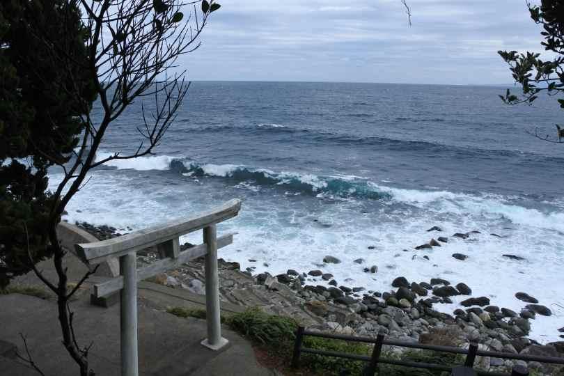 Shrine in Izu Peninsula on the ocean.
