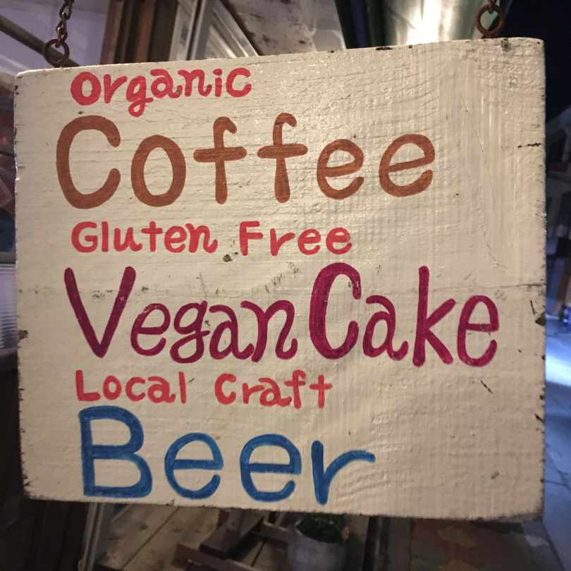 Gluten-free, Vegan sign in Naha, Okinawa.