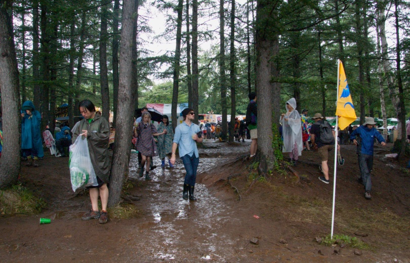 Rainy Day at Fuji Rock Festival.