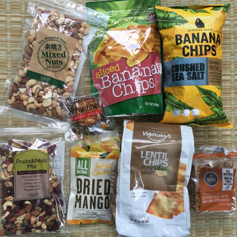Lots of gluten-free snacks from Kaldi.