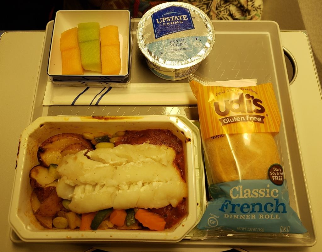 Gluten-free breakfast on ANA